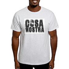 cosa nostra 3d logo Ash Grey T-Shirt