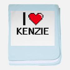 I Love Kenzie baby blanket