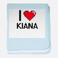 I Love Kiana baby blanket
