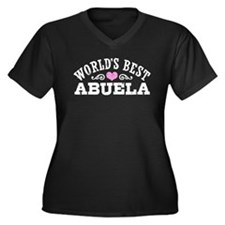 World's Best Women's Plus Size V-Neck Dark T-Shirt
