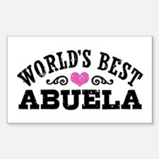 World's Best Abuela Decal