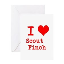 I Heart Scout Finch Greeting Cards