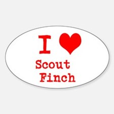 I Heart Scout Finch Decal