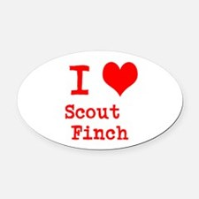 I Heart Scout Finch Oval Car Magnet