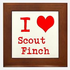 I Heart Scout Finch Framed Tile