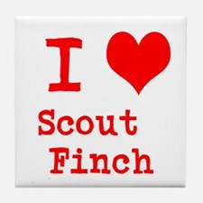 I Heart Scout Finch Tile Coaster