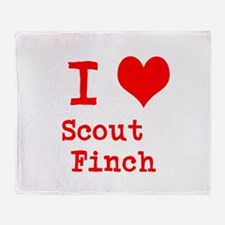 I Heart Scout Finch Throw Blanket