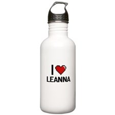I Love Leanna Water Bottle