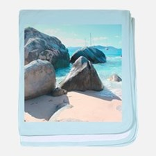 Blissful Beach baby blanket