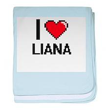 I Love Liana baby blanket