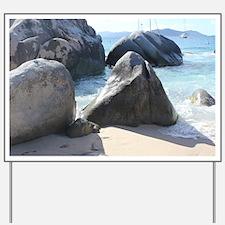 Blissful Beach Yard Sign