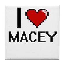I Love Macey Tile Coaster