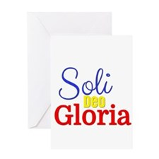 Soli Deo Gloria - Primary Colors Greeting Card