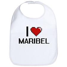 I Love Maribel Bib