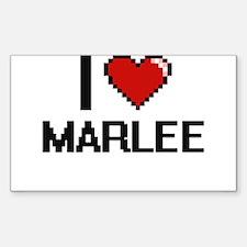 I Love Marlee Decal