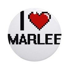 I Love Marlee Ornament (Round)