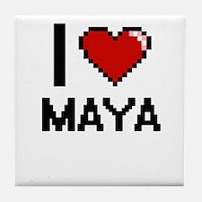 I Love Maya Tile Coaster