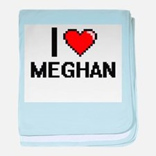 I Love Meghan baby blanket