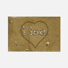 Lisa Beach Love Rectangle Magnet