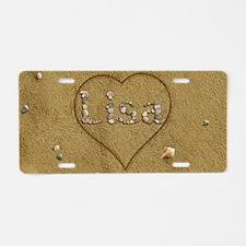 Lisa Beach Love Aluminum License Plate