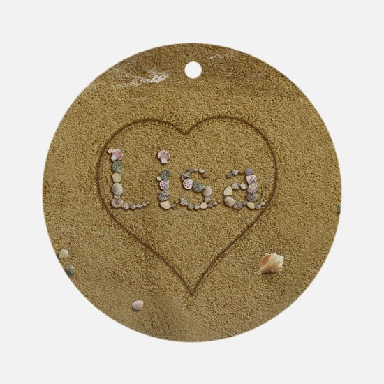 Lisa Beach Love Ornament (Round)