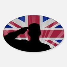 Military Salute On England Flag Decal