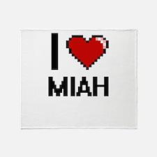 I Love Miah Throw Blanket