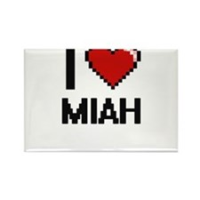 I Love Miah Magnets