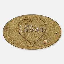 Lillian Beach Love Sticker (Oval)
