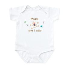 Mason turns 1 today Infant Bodysuit