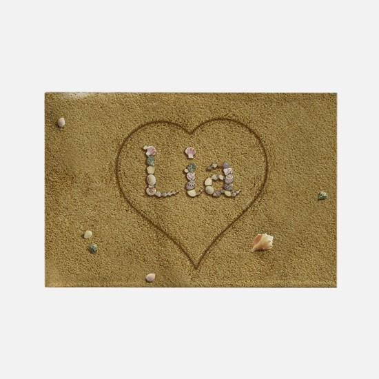 Lia Beach Love Rectangle Magnet