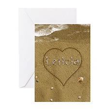 Leticia Beach Love Greeting Card