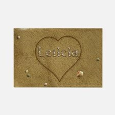 Leticia Beach Love Rectangle Magnet