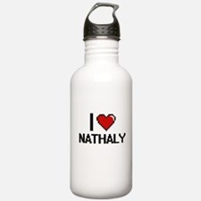 I Love Nathaly Water Bottle
