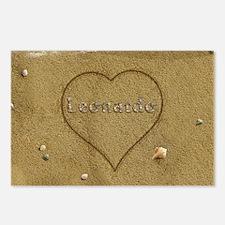 Leonardo Beach Love Postcards (Package of 8)