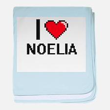 I Love Noelia baby blanket