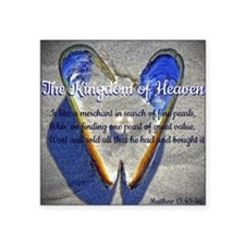 "The kingdom of Heaven Square Sticker 3"" x 3"""