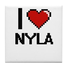 I Love Nyla Tile Coaster