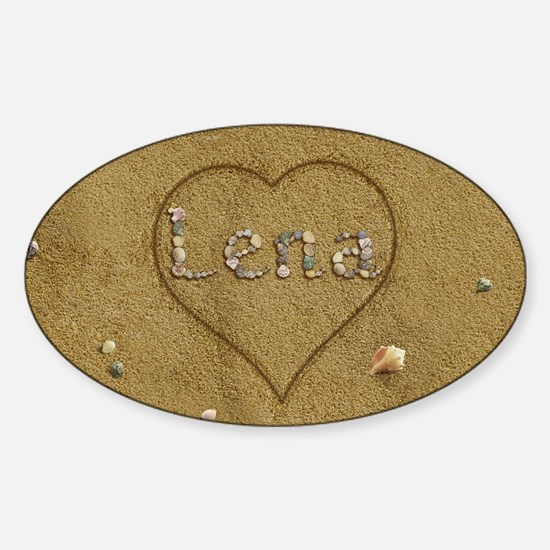 Lena Beach Love Sticker (Oval)