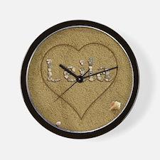 Leila Beach Love Wall Clock