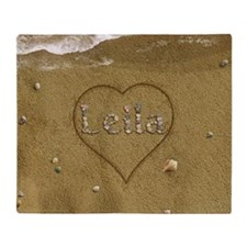 Leila Beach Love Throw Blanket