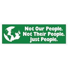 Just People Bumper Bumper Sticker