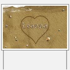 Leanna Beach Love Yard Sign