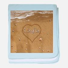 Layla Beach Love baby blanket