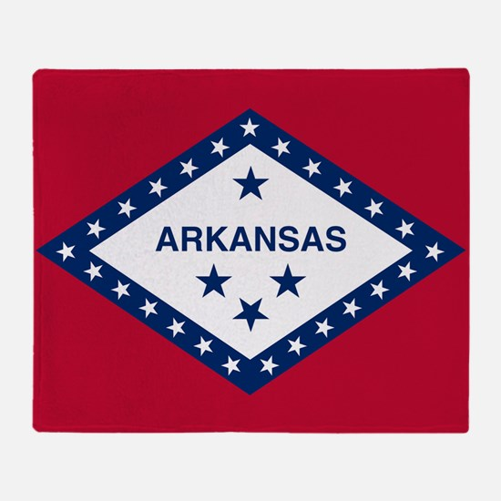 State Flag of Arkansas Throw Blanket