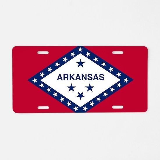 State Flag of Arkansas Aluminum License Plate