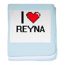 I Love Reyna baby blanket