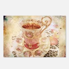Victorian Cup of tea Postcards (Package of 8)