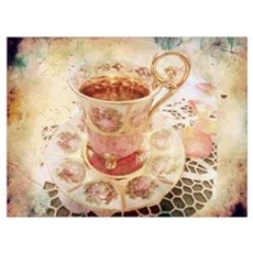 Victorian Cup of tea Poster