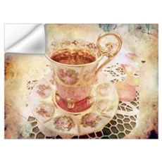 Victorian Cup of tea Wall Decal